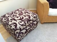 Marks and Spencer sofa and matching storage footstool