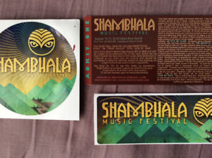 5 Shambhala Tickets  (hard copy) (Can Deliver or Mail you them)