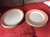 LARGE CARVERY DINNING PLATES SET OF 7