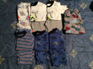 6 Pairs of Boys Size 4 Pjs