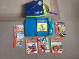 Leapfrog leappand learning system carry case and 6 books