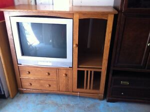 """Entertainment unit and Basically New 32"""" RCA TV!"""