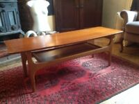 MID CENTURY 60s TEAK COFFEE TABLE