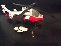 Tonka Rescue Helicopter with winch and stretcher. In an excellent condition.