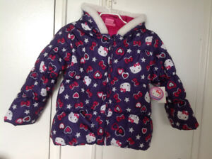Brand new with tag Hello Kitty purple coat size 7