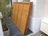 Lap fence panels 4' X 6' (3 panels), NEW