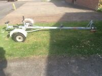 Road trailer for dinghy or boat, made by Snipe model AST400