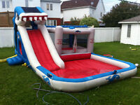 kids HUGE WATER SLIDE WITH POOL AND BOUNCER