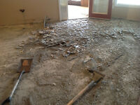 Old flooring removal