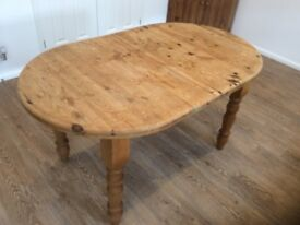 Pine farmhouse extendable table £60