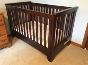 New Oak Folding Baby Crib - JPMA Certified - PRICED TO SELL