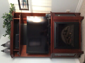 TV UNIT WITH ELECTRIC FIREPLACE