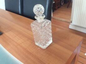 Crystal Decanter and a Bottle of Johnny Walker Black Label Whisky