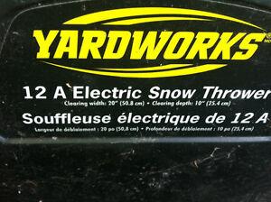 yardworks electric snowblower