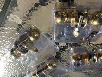 4 Brass door knobs
