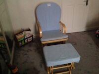 Child nursing rocking chair with stool