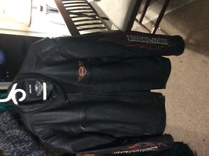 New Men's Harley leather coat 2 xl