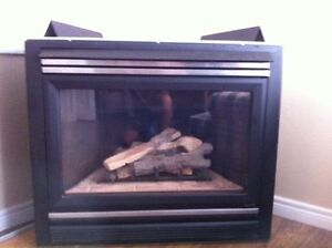 gas fire place heat and go