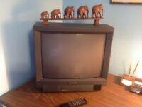 "Television Hitachi Color 20"" with 181 Channels. Remote Control"