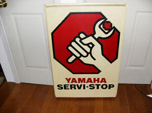 vintage YAMAHA snowmobile sign