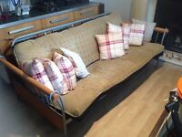 Double Sofa bed - with removable covers via zip