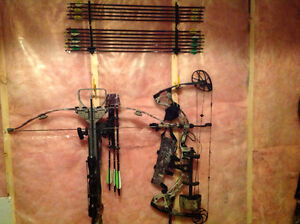 Compound hunting bow with all the fixings