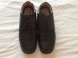 Mens M & S black formal shoe size 10 1/2 extra wide