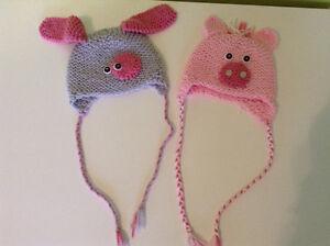 Tuques pour bébés faites à la main