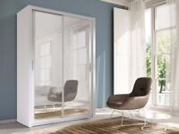 **7-DAY MONEY BACK GUARANTEE!** High Quality Berlin Sliding Door Wardrobe - SAME DAY DELIVERY!