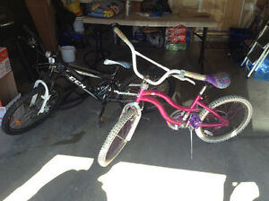 Boy and girls bike