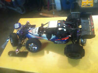 Hpi baja 5Bss 30.5cc, and parts 5Bss or trade for jeep cherokee