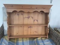 Solid pine, joiner made wall cabinet