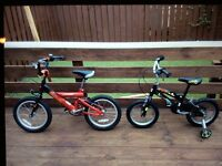 2 children's bikes (can be sold separately)