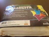 Kookaburra 3.6m triangle Ivory knitted shade sail NEW