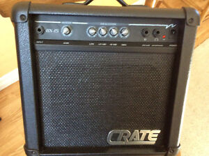 Crate BX-15 BASS Amp 4 Band EQ, Headphone Jack,