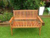 Hardwood 2 seater 1.2m garden bench NEW