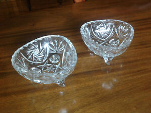 BRILLIANT CUT CRYSTAL CANDY/NUT BOWLS
