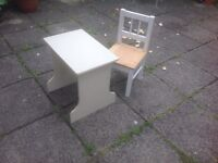 Childs Wooden Table & Chair
