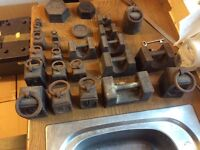 Vintage Avery old post office cast iron weights.