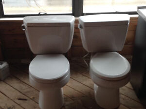 Toilets and cabinets