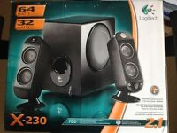 Logitech X-230 Speaker System For PC, Play Station Xbox or Game Cube