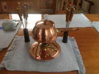 Copper Fondu Set