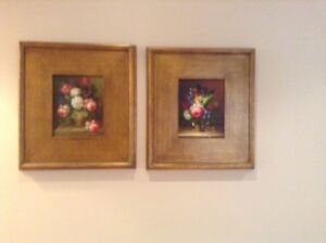 Pair of Oil Paintings in Gold Frames