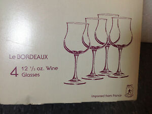 NEW Set of 4 Luminarc tulip wine glasses-made in France Cambridge Kitchener Area image 4