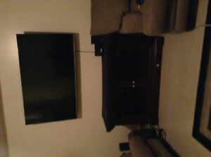 Tv,tv stand and wall mount