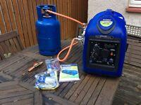 Dual fuel inverter generator
