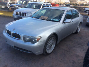 2002 BMW 745i 4.4V8 325 HP, Auto 220 kms March MVI $7000.0