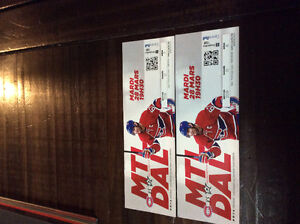 Mtl vs. Dallas hockey tickets March 28th game