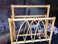 Bamboo magazine rack £5
