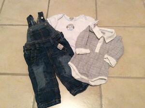 MEXX salopette & cache-couches garçon 6-9 mois